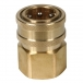 Brass Socket Female Thread - 3/4 inch