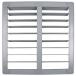 24 inch PVC Shutter for 24 inch Fiberglass DURAFAN - Shown Open