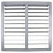 36 inch PVC Shutter for 36 inch Fiberglass DURAFAN - Shown Open
