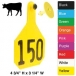 Y-Tex Large Cattle (4-Star) (Numbered) 25/Bag