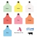 Allflex Global Maxi Tamperproof Beef and Dairy Ear Tag - 25/Bag
