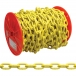 Campbell 3/16 inch Grade 30 Proof Coil Chain, Yellow Polycoat