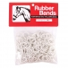 Rubber Bands for Mane and Tail Braiding - White