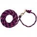 Weaver Leather Adjustable Poly Livestock Neck Rope - Black Pink