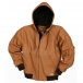 FIVE ROCK Fleece Lined Hooded Jacket - Brown
