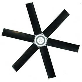 Poly Fan Blade (6 Blade) - 18 inch blade with 1/2 inch Shaft (45 Degree)