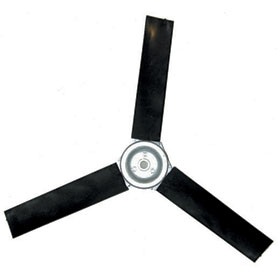 Poly Fan Blades (3 Blade) - 12 inch Blade with 5/8 inch Shaft (45 Degree)