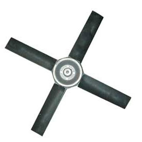 Poly Fan Blade (4 Blade) - 24 inch Blade with 5/8 inch Shaft (25 Degree)
