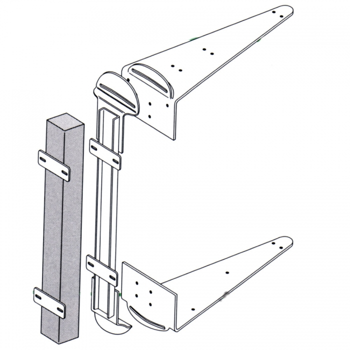 Post Mount Brackets for 36