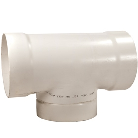 8 inch PVC Tee for Duct and Pit Fan