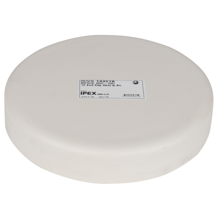 12 inch PVC End Cap for Duct and Pit Fan