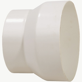 12 inch X 10 inch PVC Tapered Reducer for Duct and Pit Fan