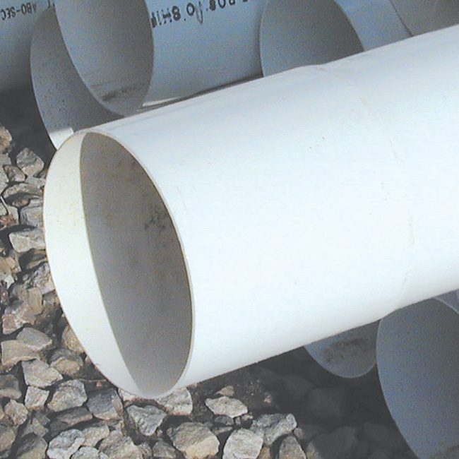 8 inch x 10' PVC 50 lb. Duct Pipe