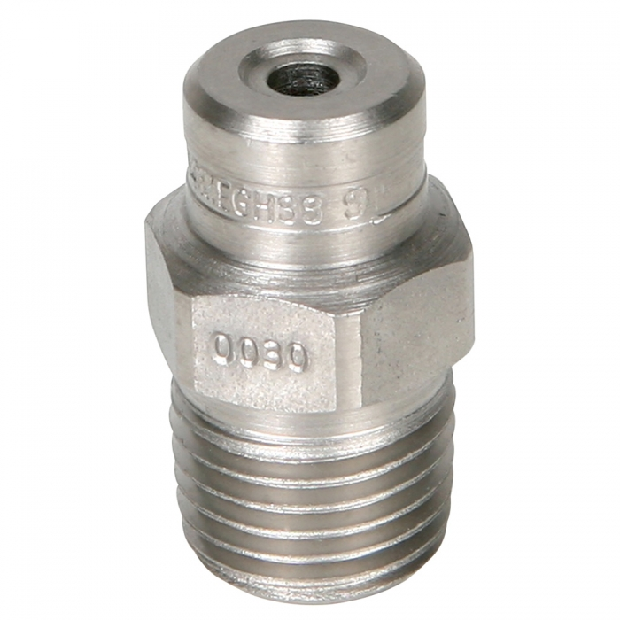 Stainless Steel Power Wash Spray Nozzles - 30 x 0 Degree - View 1