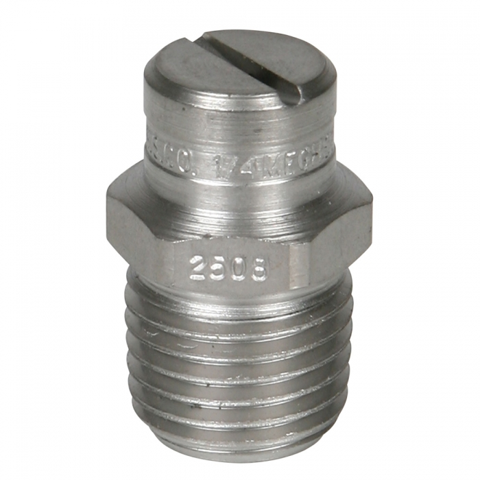 Stainless Steel Power Wash Spray Nozzles - 8 x 25 Degree - View 1