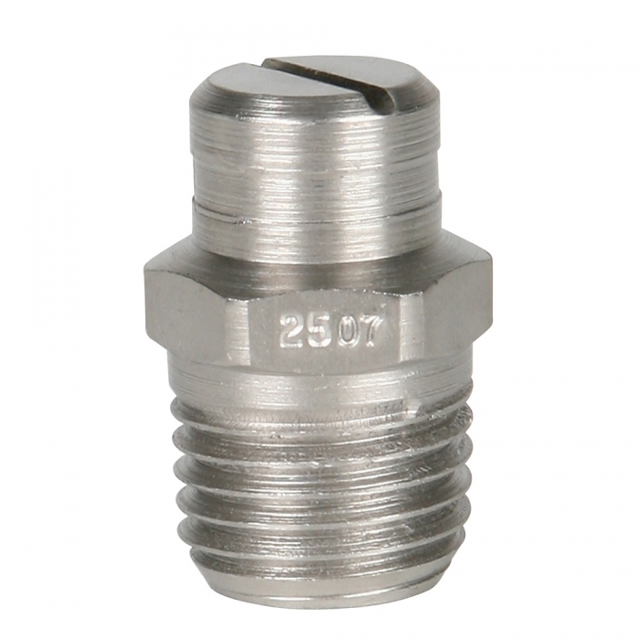 Stainless Steel Power Wash Spray Nozzles - 7 x 25 Degree - View 1