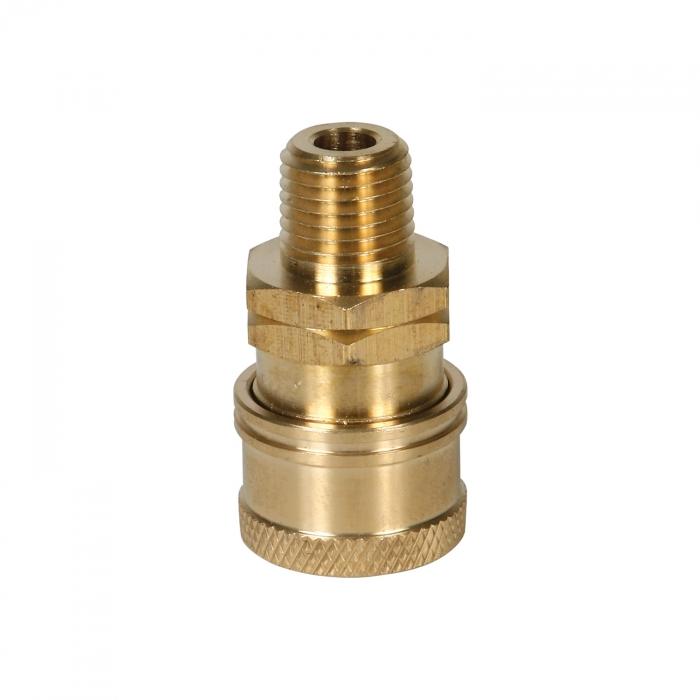 Brass Socket Male Thread - 1/4 inch - View 1