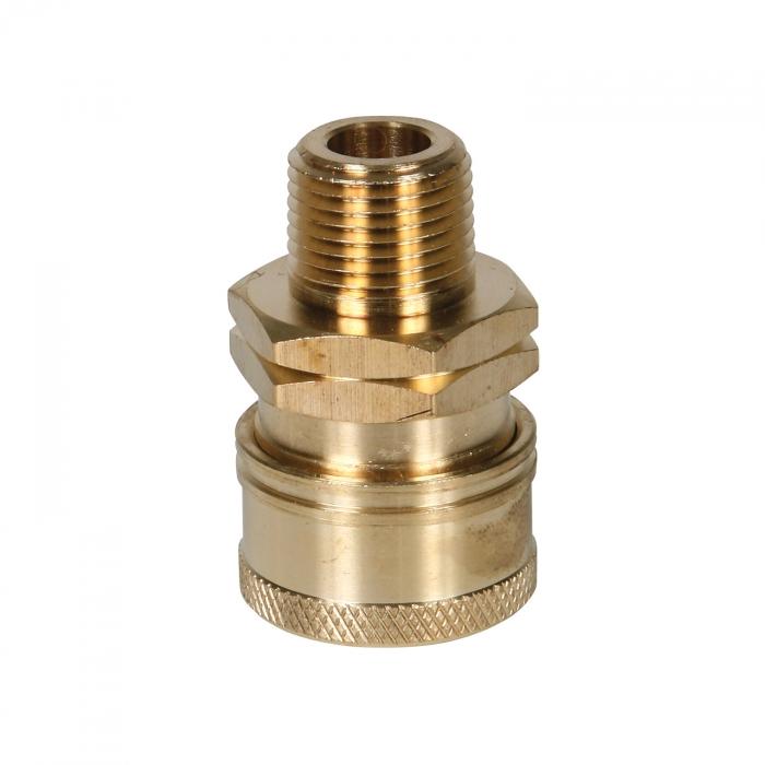 Brass Socket Male Thread - 3/8 inch - View 1