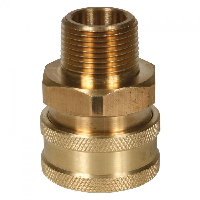 Brass Socket Male Thread - 3/4 inch - View 1