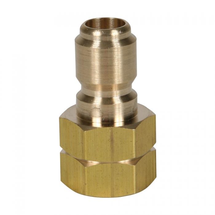 Brass Plug Female Threads - 3/8