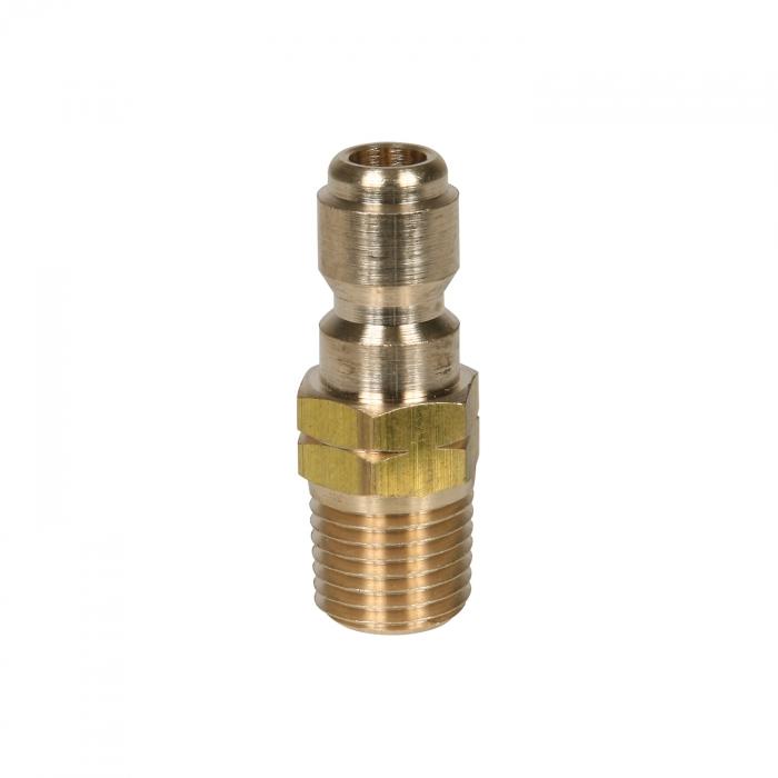 Brass Plug Male Thread - 1/4