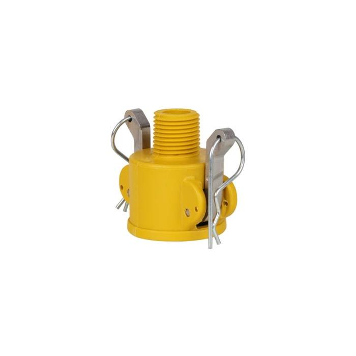 Coupler x Male NPT with SS Handle - 1/2