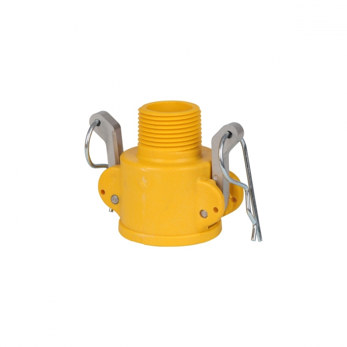 Coupler x Male NPT with SS Handle - 3/4