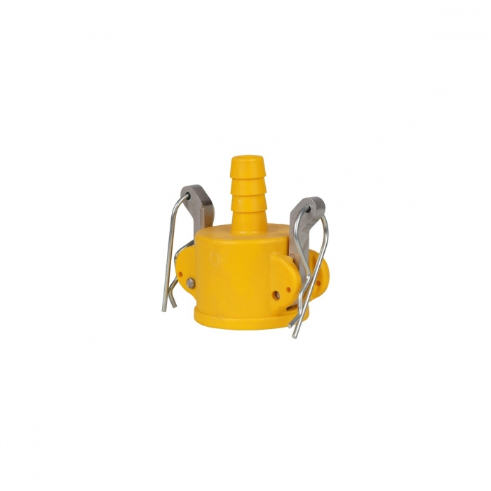 Coupler x Hose Barb with SS Handle - 1/2
