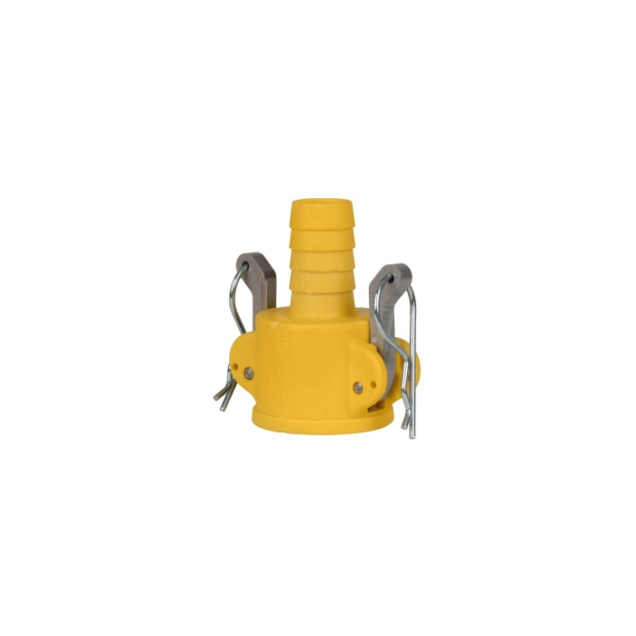 Coupler x Hose Barb with SS Handle - 3/4