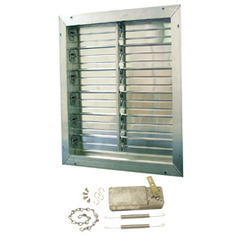 40 inch Aluminum Intake Power Shutter with Motorized Kit