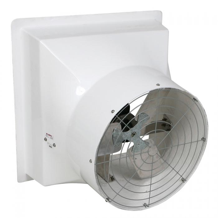 DuraFan 24 inch Fiberglass Fan - Side View