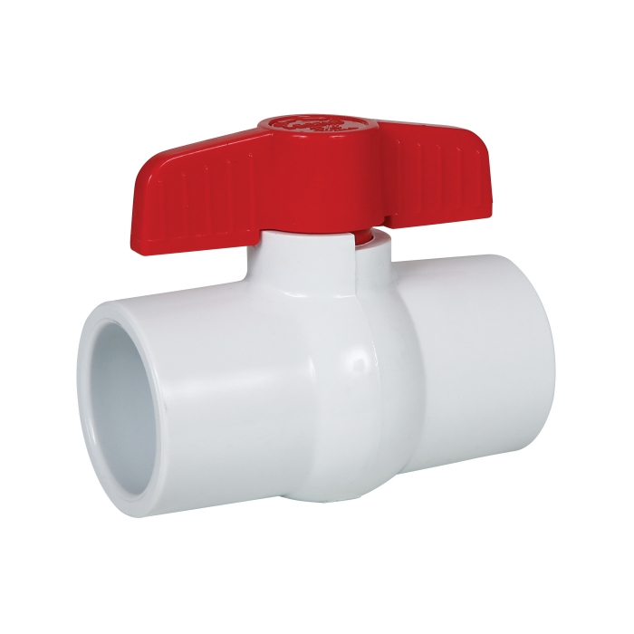 Glue End PVC Ball Valve - 1 1/4 inch View 2