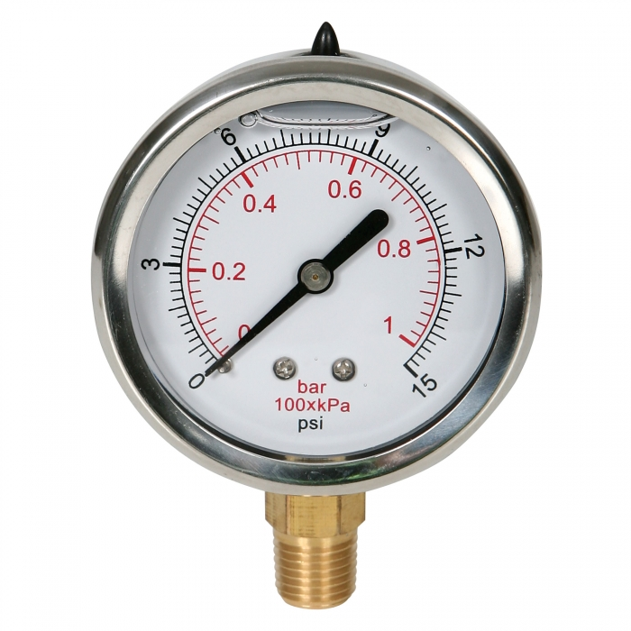 Pressure Gauge - 0-15 PSI