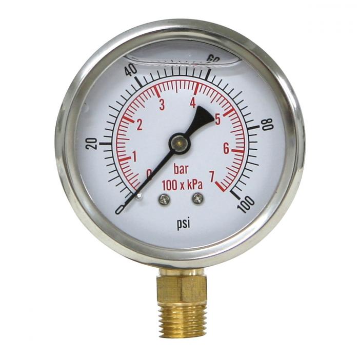 Liquid Filled Gauge - 0-100 PSI