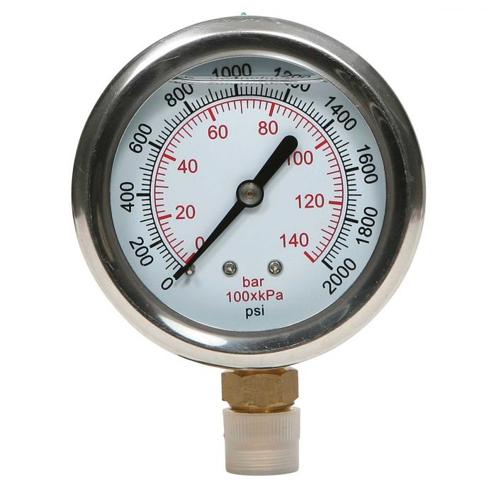 Liquid Filled Gauge - 0-2000 PSI