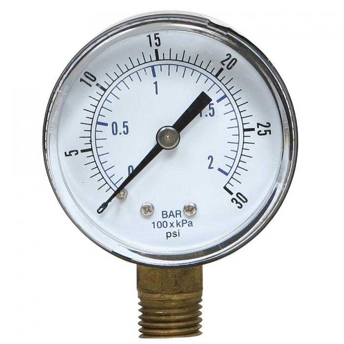 Pressure Gauge - 0-30 PSI