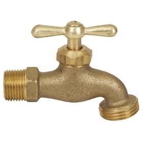 Brass Hose Bib - 3/4 inch MPT x 3/4 inch GHT
