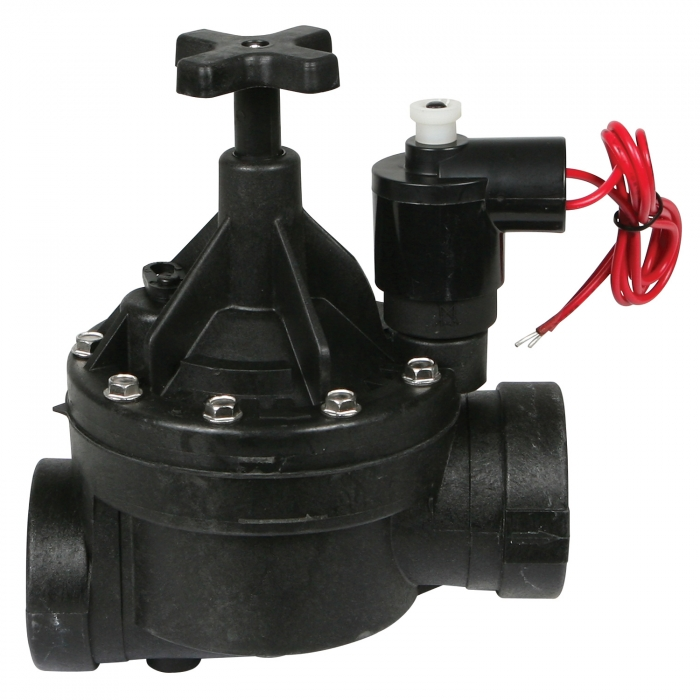 Solenoid Valve with Flow Control - 1 1/2 inch Female Thread 110 Volt