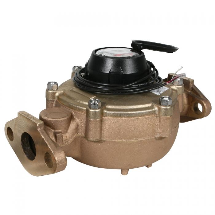 1 1/2'' FPT Badger Bronze Water Meter w/Digital Pulser