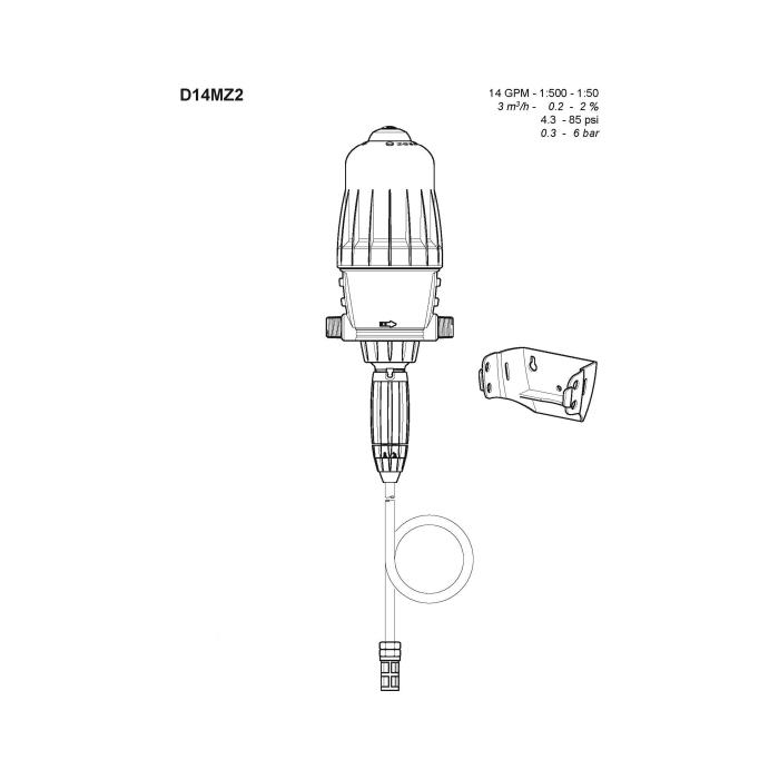 Dosatron® D14MZ2 Medicator Repair Parts
