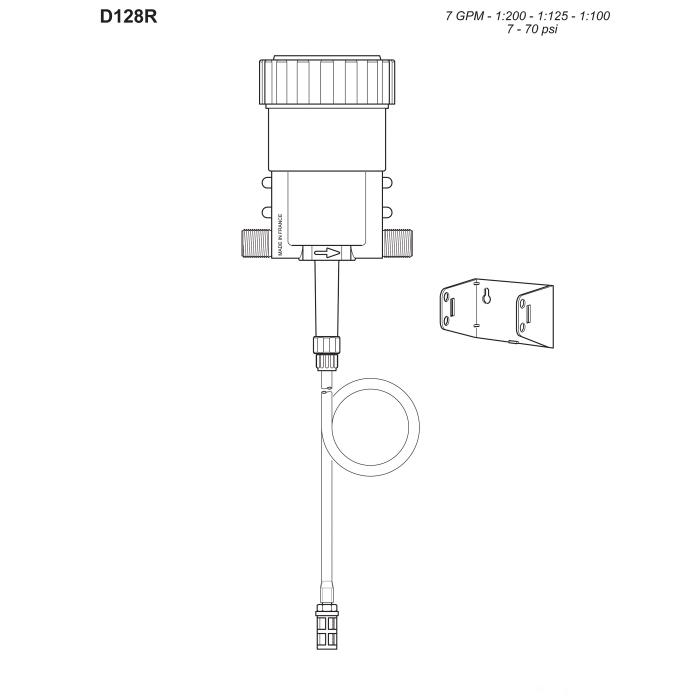 Dosatron® D128R Medicator Repair Parts