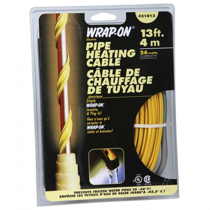 Wrap-On Pipe Heating Cables - 13'