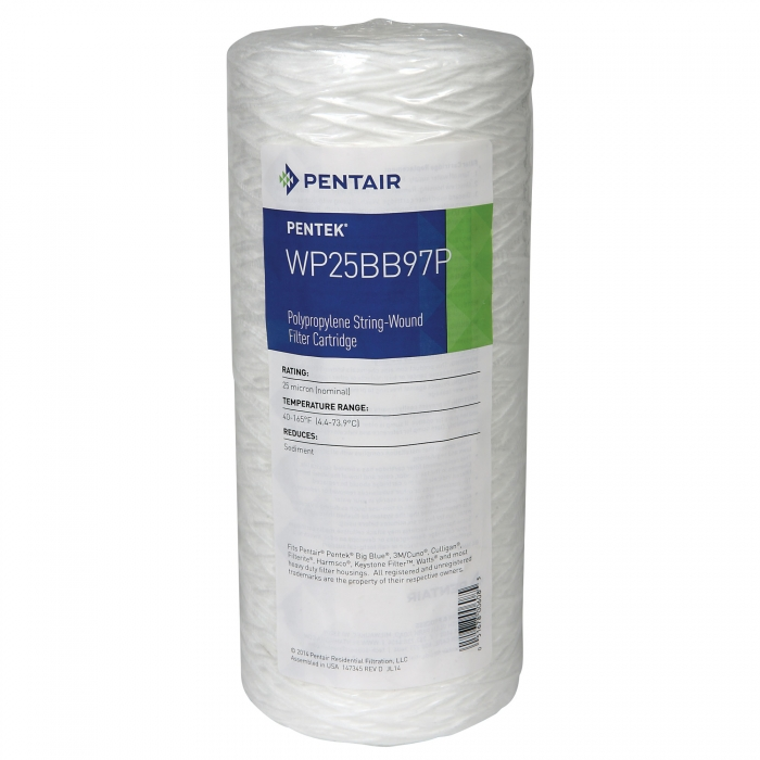 Polypropylene Stringwound Filter (25 Micron) for Big Blue Jumbo 10 inch Housing