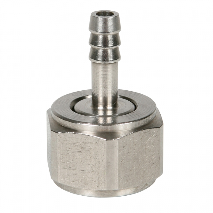 1/2 Stainless Steel FMT Adapter x 1/4 Barb and Washer