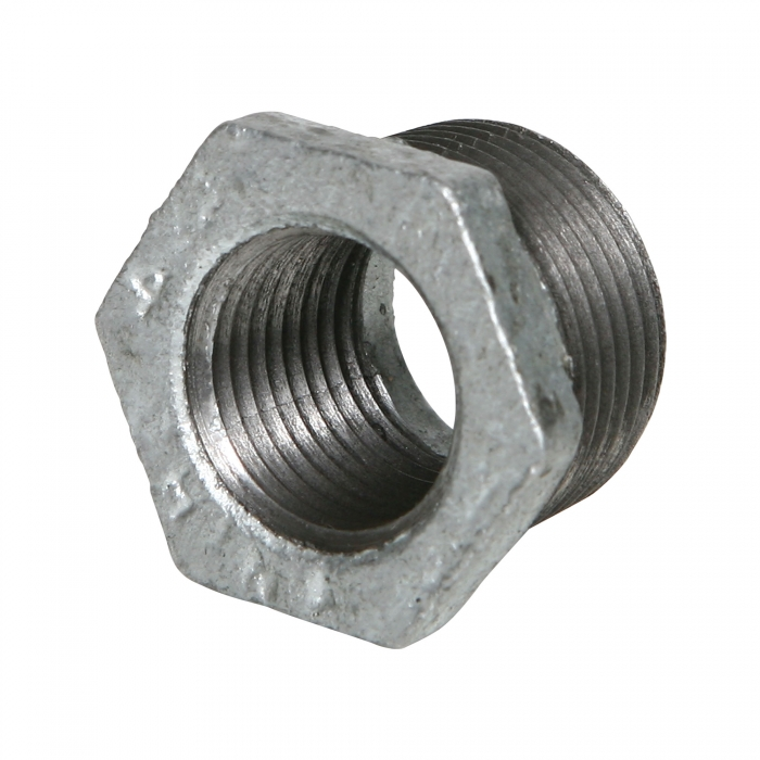 Galvanized Hex Reducer Bushing - 3/4'' x 1/2''