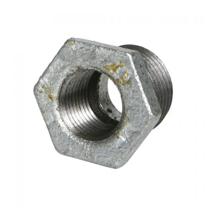 Galvanized Hex Reducer Bushing - 1/2'' x 3/8''