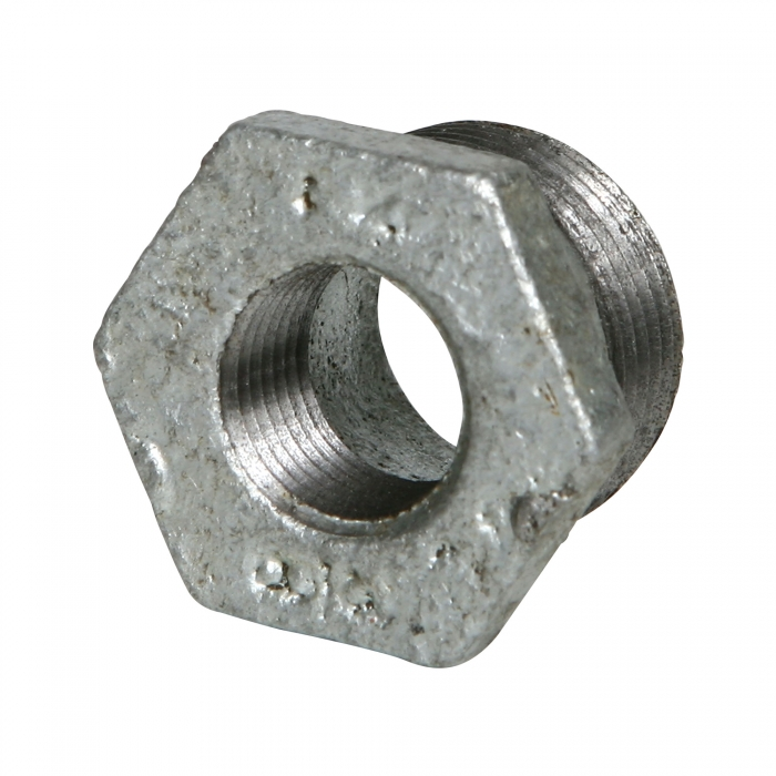 Galvanized Hex Reducer Bushing - 3/4'' x 3/8''