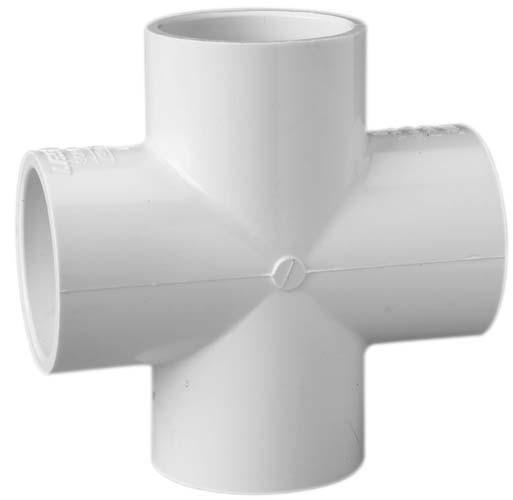 1 inch PVC Cross S x S x S x S