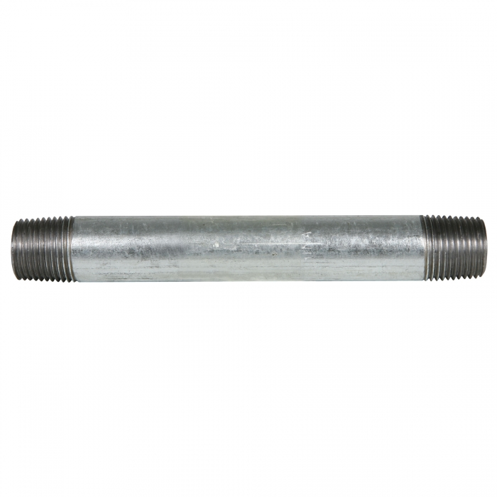 Galvanized Pipe Nipple - 1/2 x 6 inches