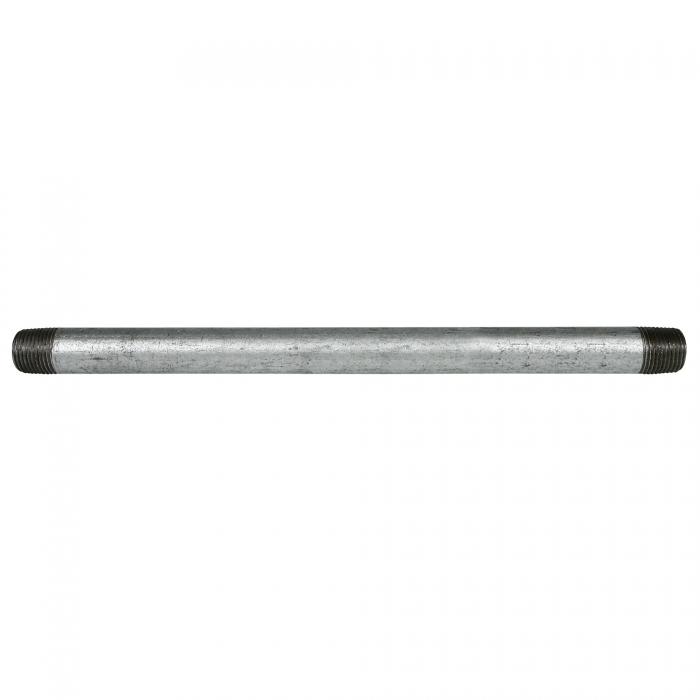 Galvanized Pipe Nipple - 1/2 x 12 inches